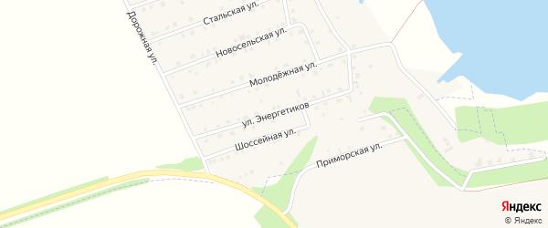 Улица Энергетиков на карте села Пуляевки с номерами домов