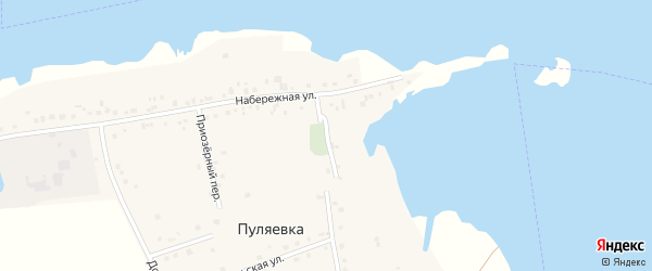 Набережный переулок на карте села Пуляевки с номерами домов