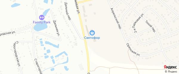 Перспективная улица на карте Новосадового поселка с номерами домов