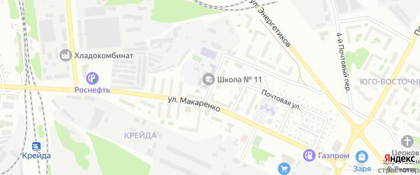 Переулок Макаренко на карте Белгорода с номерами домов