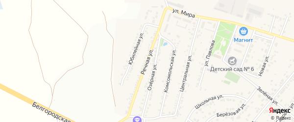 Речная улица на карте Новосадового поселка с номерами домов
