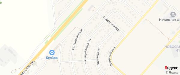 Пионерский переулок на карте Новосадового поселка с номерами домов