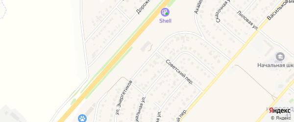 Улица Энергетиков на карте Новосадового поселка с номерами домов
