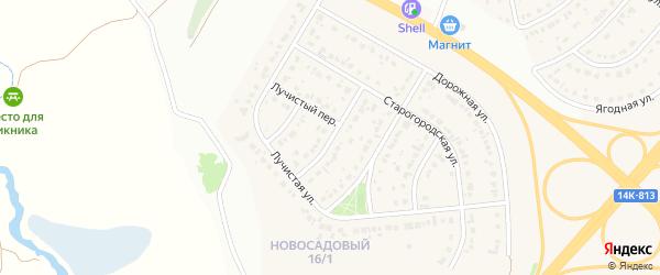 2-й Старогородский переулок на карте Новосадового поселка с номерами домов