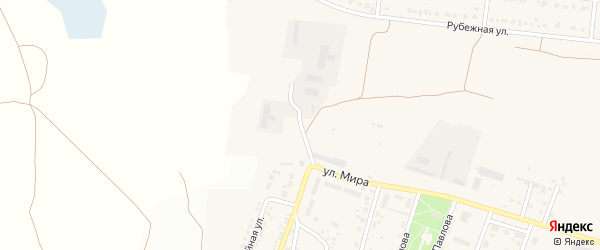 Промышленный проезд на карте Новосадового поселка с номерами домов