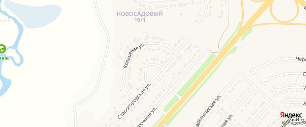 Кольцевой переулок на карте Новосадового поселка с номерами домов