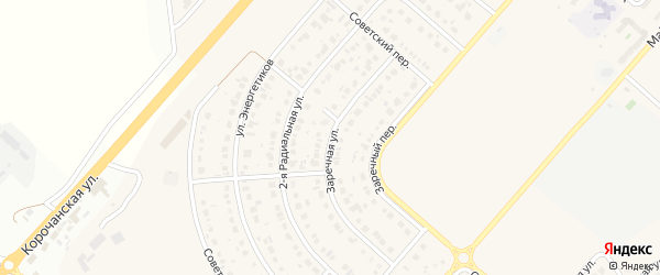 Заречная улица на карте Новосадового поселка с номерами домов