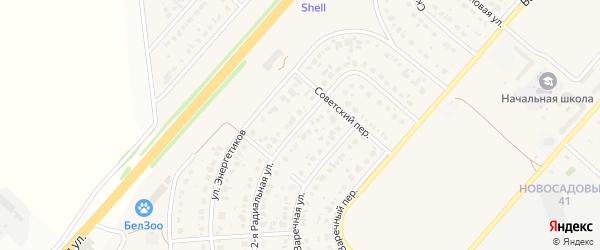 2-я Радиальная улица на карте Новосадового поселка с номерами домов