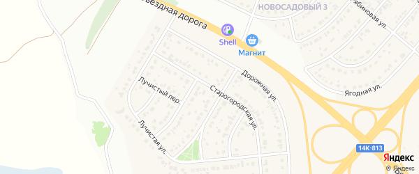 Старогородская улица на карте Новосадового поселка с номерами домов