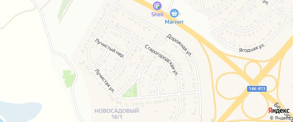Улица Новоселов на карте Новосадового поселка с номерами домов