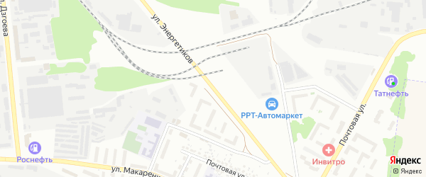 Улица Энергетиков на карте Белгорода с номерами домов