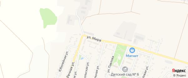Улица Мира на карте Новосадового поселка с номерами домов