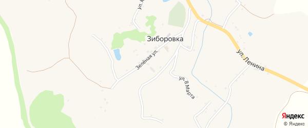 Улица Победы на карте села Зиборовки с номерами домов