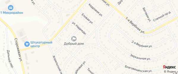 1-я Апрельская улица на карте Новосадового поселка с номерами домов