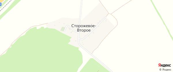 Улица Героев Танкистов на карте хутора Сторожевого-Второго с номерами домов