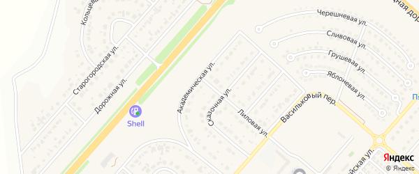 Живописная улица на карте Новосадового поселка с номерами домов