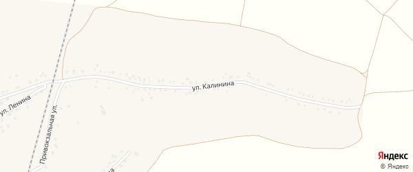 Улица Калинина на карте села Гостищево с номерами домов