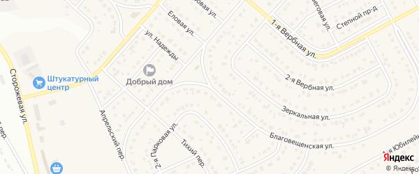 Ореховая улица на карте Новосадового поселка с номерами домов