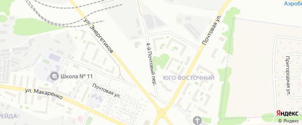 Почтовый 4-й переулок на карте Белгорода с номерами домов