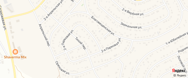 Парковая улица на карте села Ближней Игуменки с номерами домов