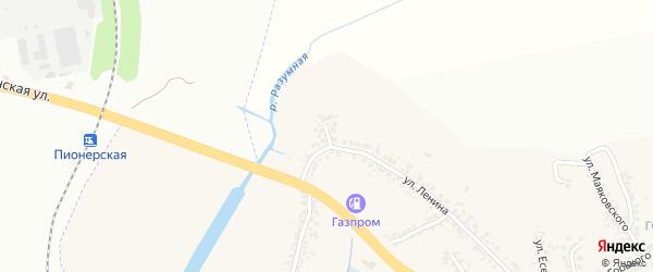 Улица Лебедева на карте поселка Разумного с номерами домов