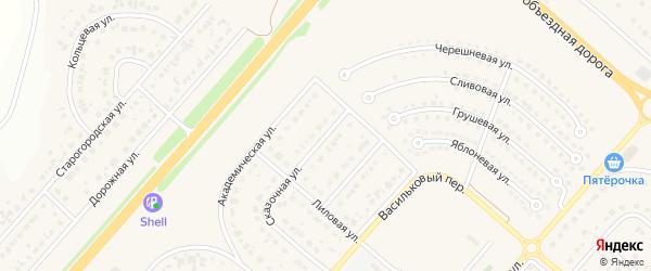Сказочная улица на карте Новосадового поселка с номерами домов