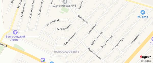 Сиреневая улица на карте Новосадового поселка с номерами домов