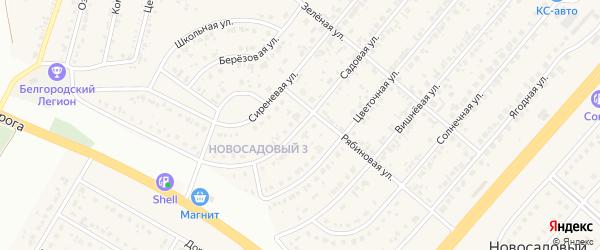 Садовая улица на карте Новосадового поселка с номерами домов