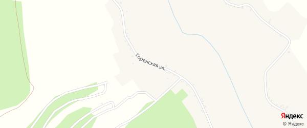 Горенская улица на карте Сажного села с номерами домов