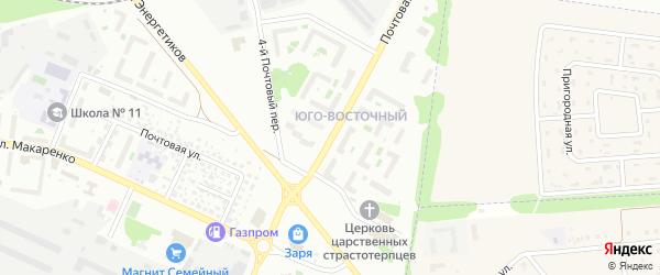 Почтовая улица на карте Белгорода с номерами домов