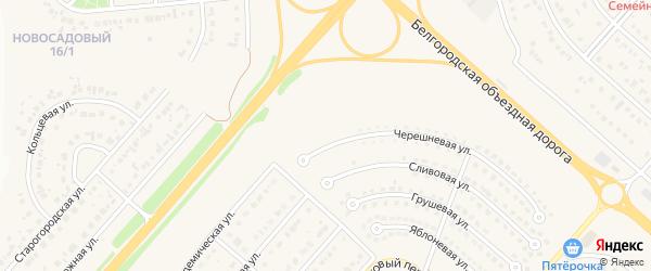Радужная улица на карте Новосадового поселка с номерами домов