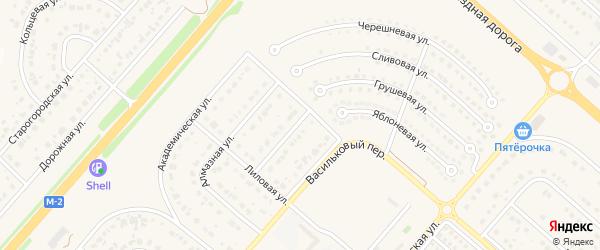 Васильковая улица на карте Новосадового поселка с номерами домов