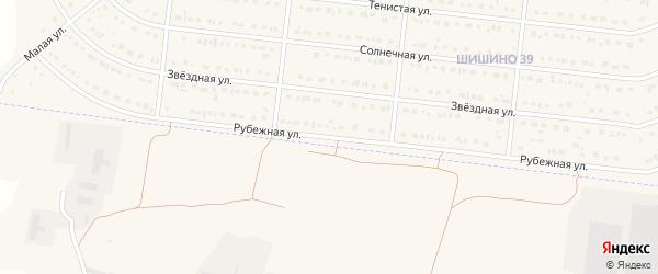 Рубежная улица на карте села Шишино с номерами домов