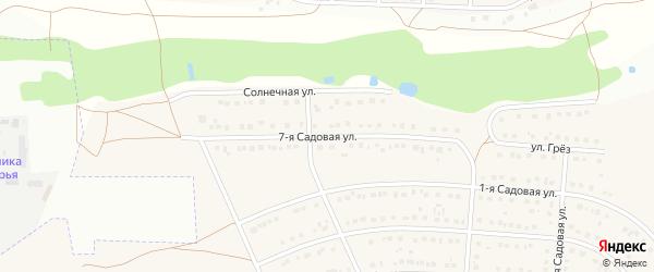 7-я Садовая улица на карте села Ближней Игуменки с номерами домов