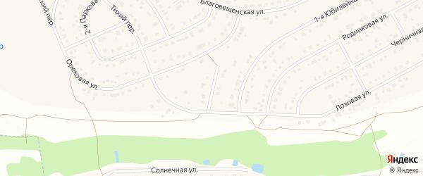 Юбилейный переулок на карте Новосадового поселка с номерами домов