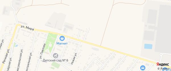 Уютный переулок на карте Новосадового поселка с номерами домов
