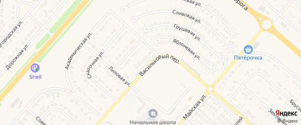 Васильковый переулок на карте Новосадового поселка с номерами домов