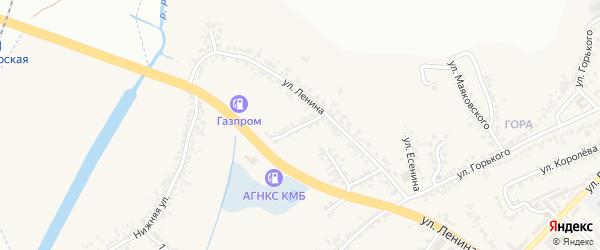 Улица Лысова на карте поселка Разумного с номерами домов