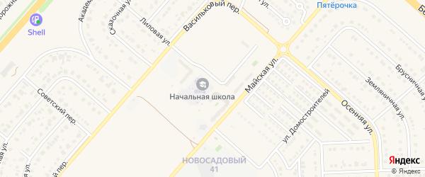 Новая улица на карте Новосадового поселка с номерами домов