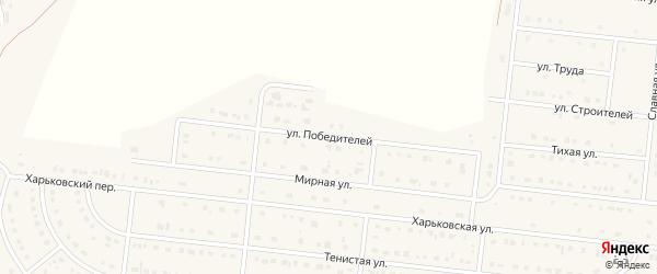 Улица Победителей на карте села Шишино с номерами домов