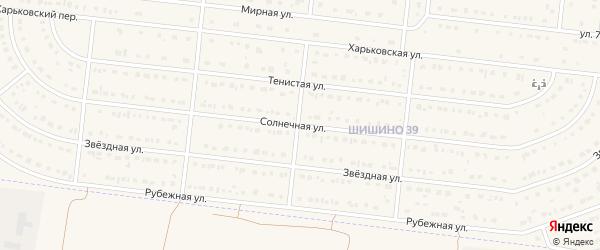 Солнечная улица на карте села Шишино с номерами домов