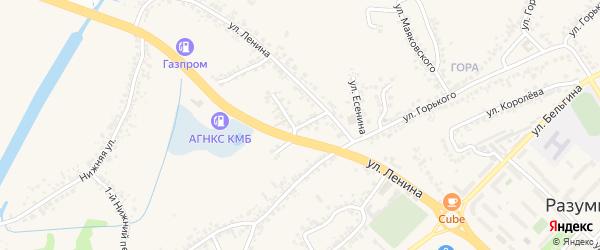 Улица Легезина на карте поселка Разумного с номерами домов