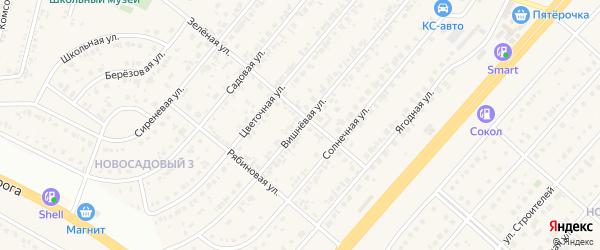 Вишневая улица на карте Новосадового поселка с номерами домов