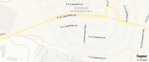 3-я Садовая улица на карте села Ближней Игуменки с номерами домов