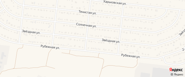 Звездная улица на карте села Шишино с номерами домов