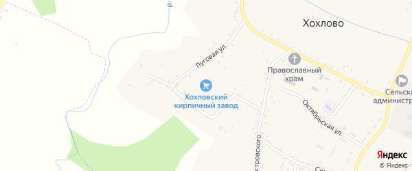 Подгорная улица на карте села Хохлово с номерами домов