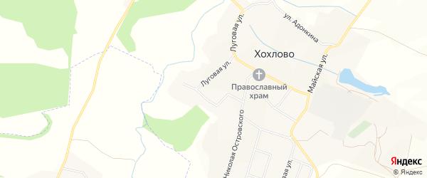 Карта села Хохлово в Белгородской области с улицами и номерами домов