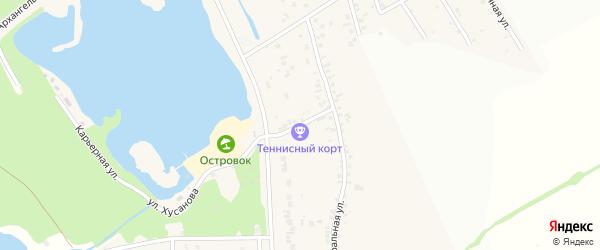 Центральный 1-й переулок на карте села Нижнего Ольшанца с номерами домов