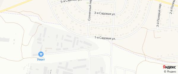1-я Садовая улица на карте села Ближней Игуменки с номерами домов