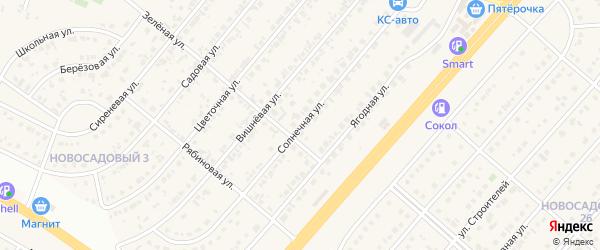 Солнечная улица на карте Новосадового поселка с номерами домов